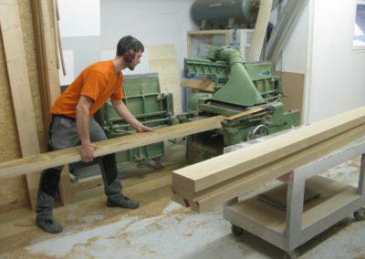 Herstellung Massivholztisch