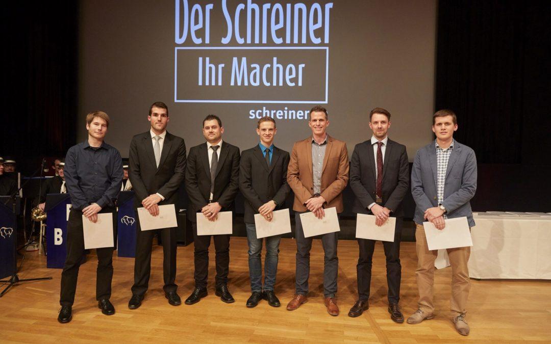 Diplomfeier Luzio Egli zum Schreinermeister HF